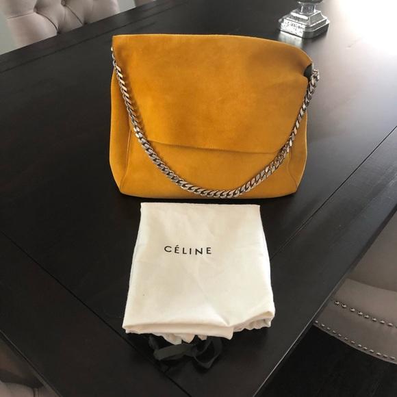 6a602f65caf Celine Handbags - CÉLINE Suede Gourmette Bag